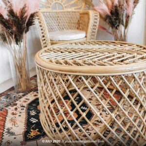 rattan coffee table booming plus